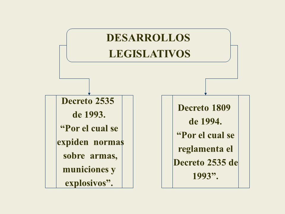 DESARROLLOS LEGISLATIVOS