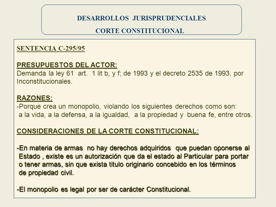 DESARROLLOS JURISPRUDENCIALES