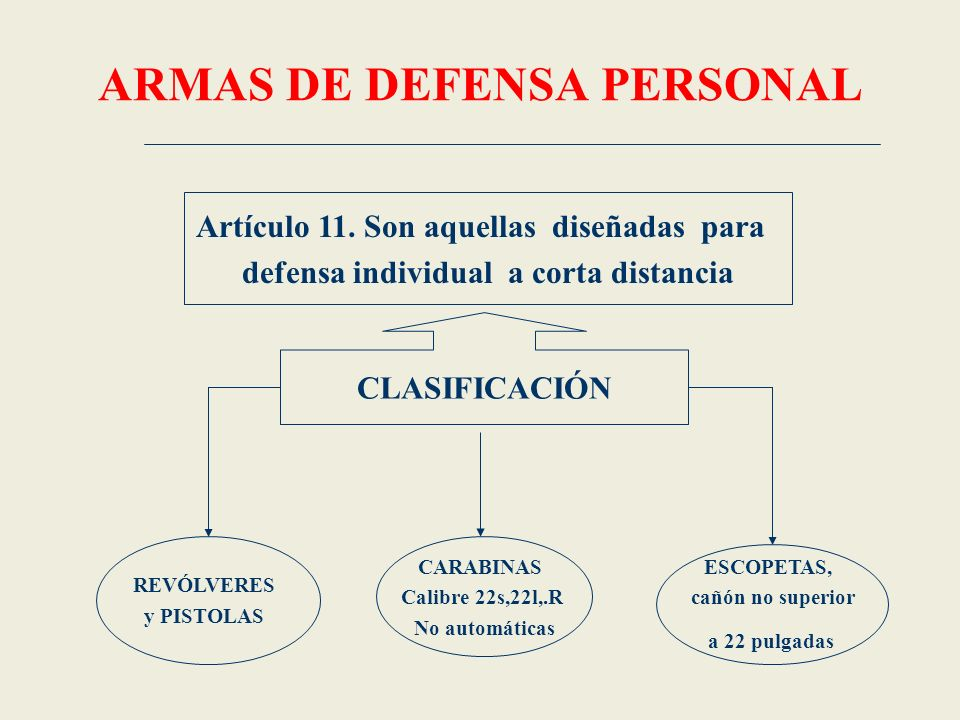 ARMAS DE DEFENSA PERSONAL