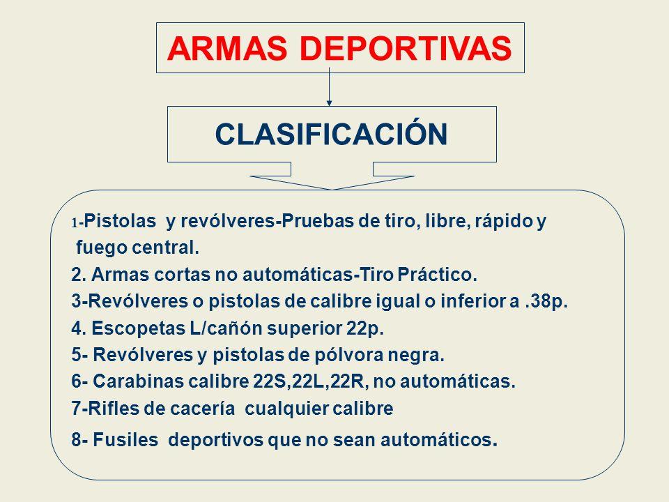 ARMAS DEPORTIVAS CLASIFICACIÓN fuego central.
