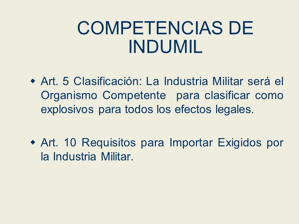 COMPETENCIAS DE INDUMIL