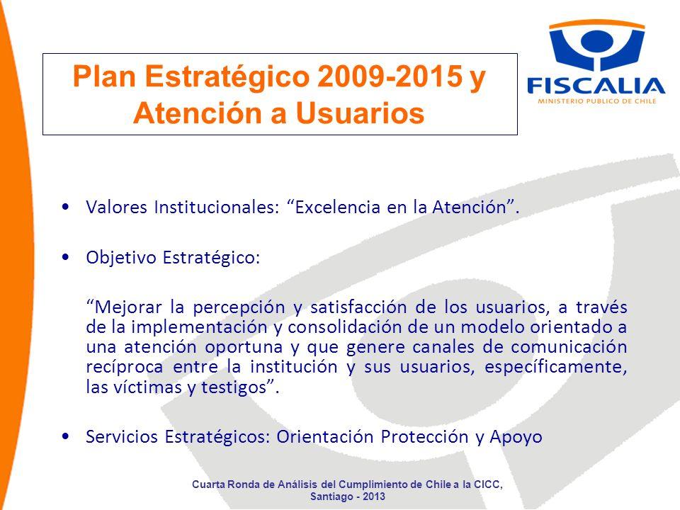 Plan Estratégico 2009-2015 y Atención a Usuarios