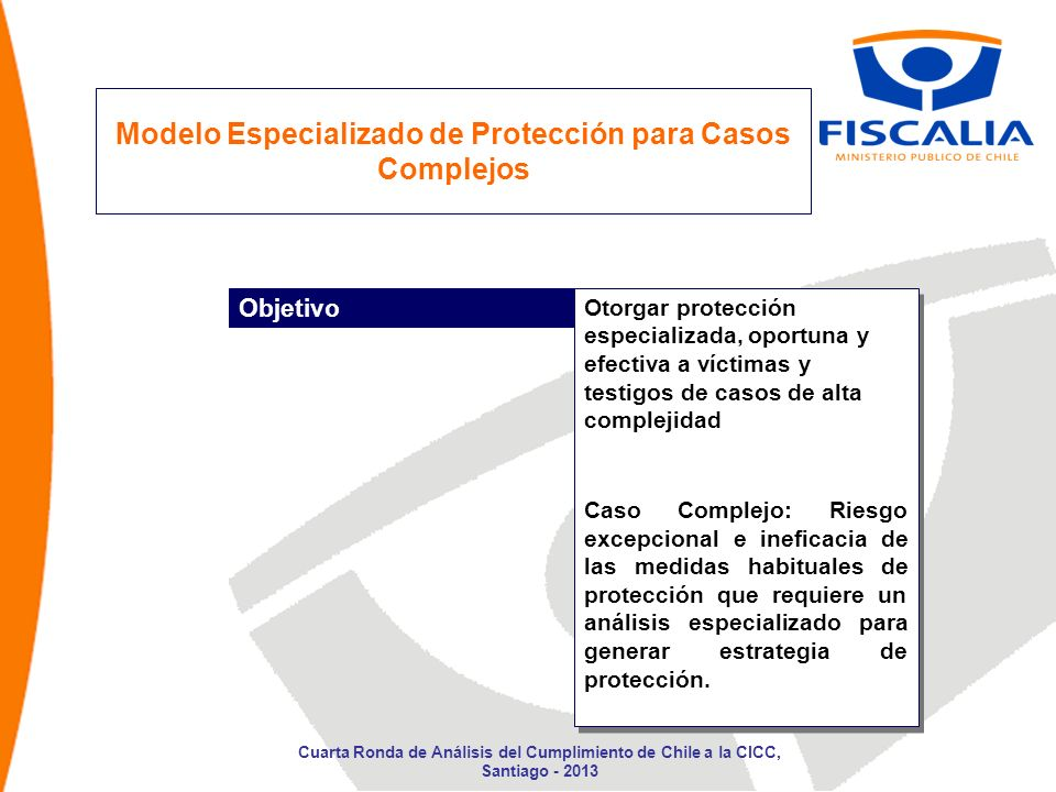 Modelo Especializado de Protección para Casos Complejos