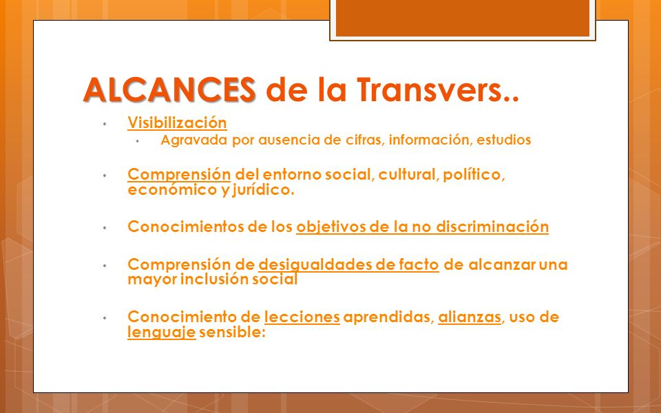 ALCANCES de la Transvers..