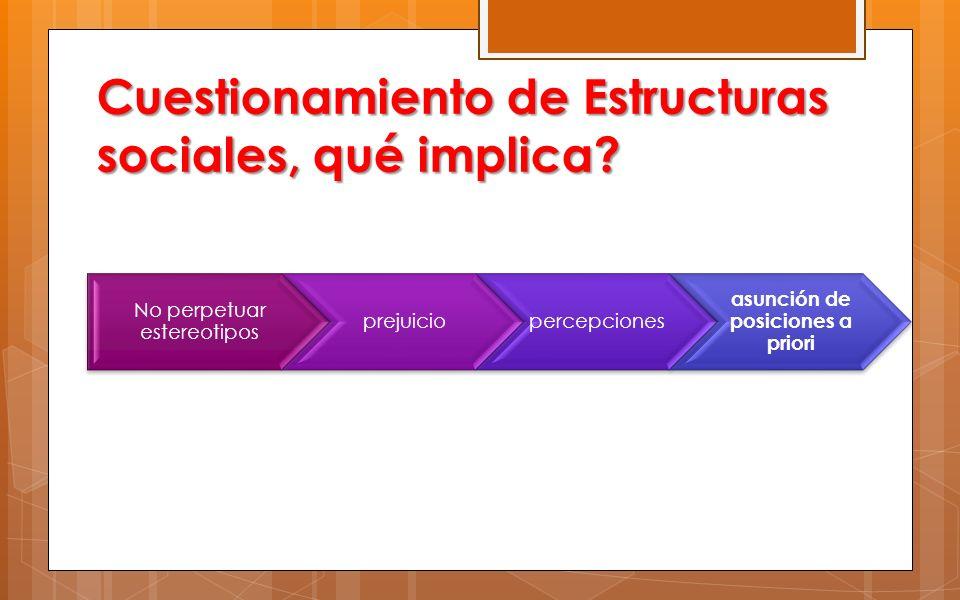 T Cuestionamiento de Estructuras sociales, qué implica