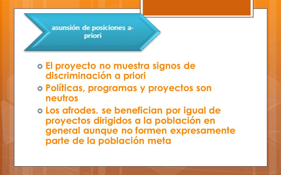 El proyecto no muestra signos de discriminación a priori