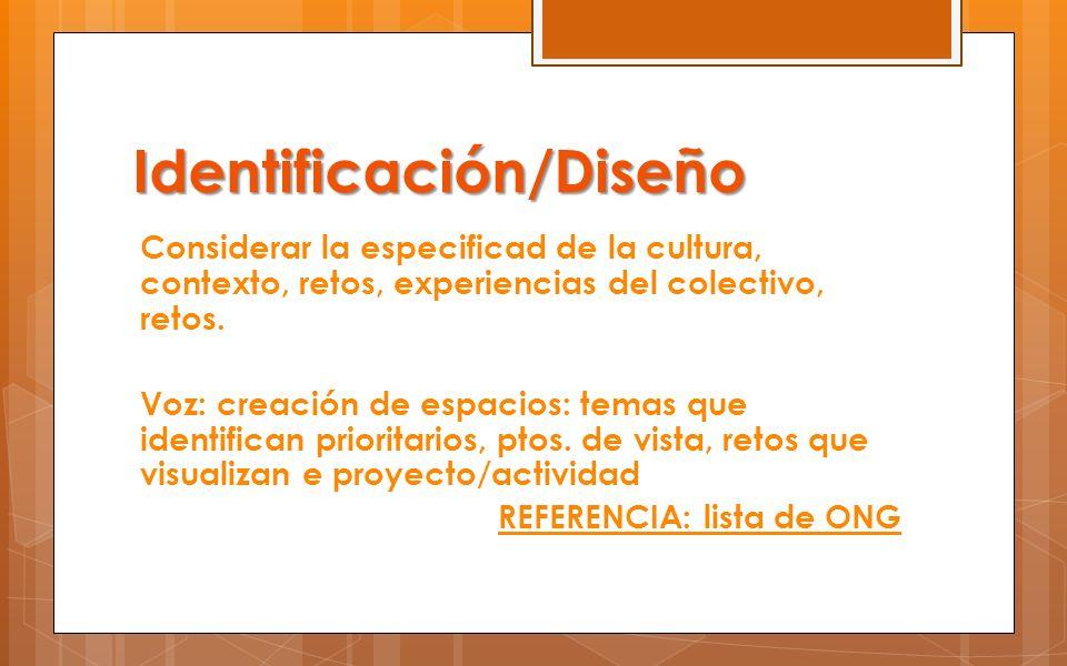 Identificación/Diseño