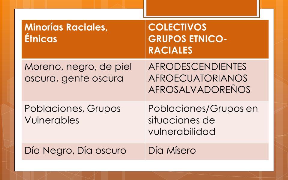Minorías Raciales, Étnicas