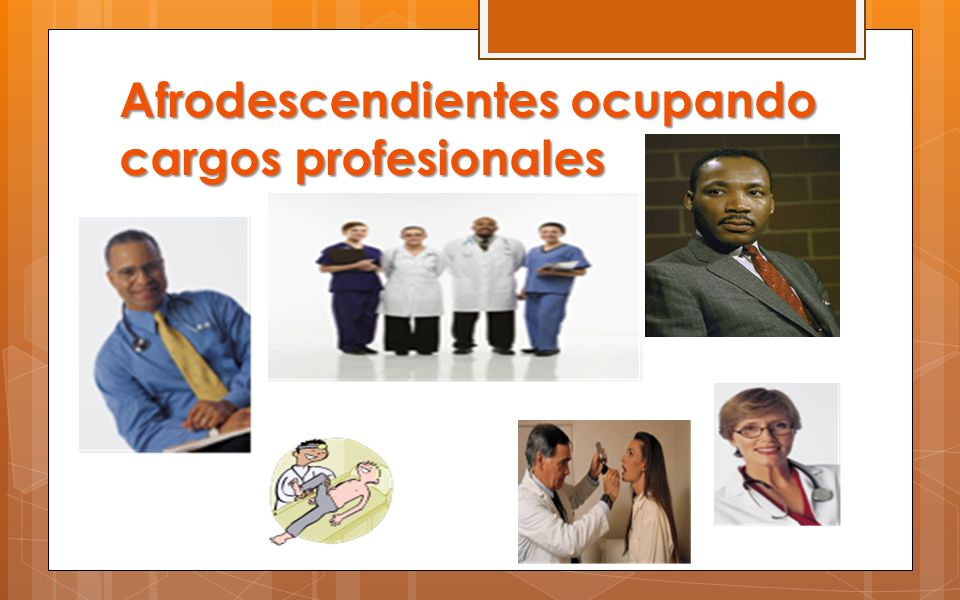 Afrodescendientes ocupando cargos profesionales
