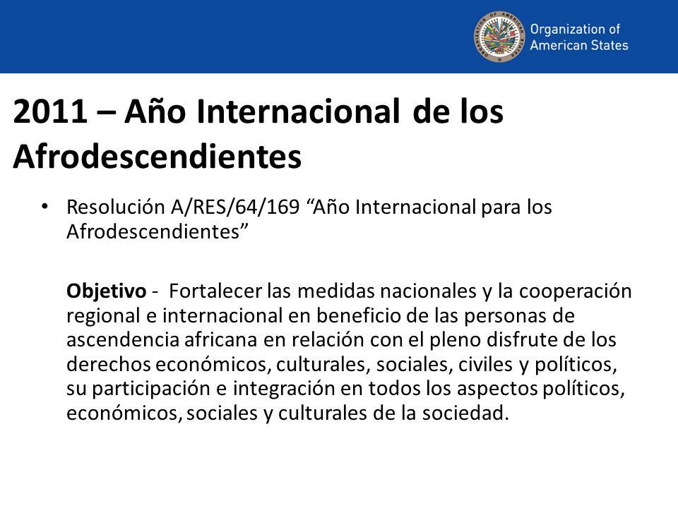 2011 – Año Internacional de los Afrodescendientes