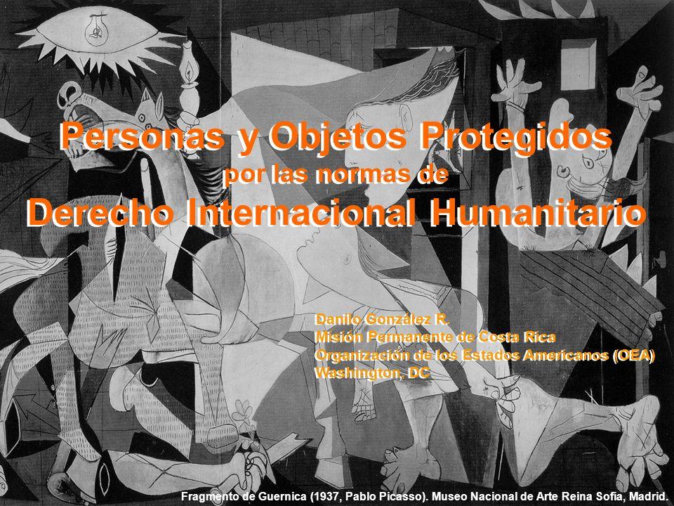 Personas y Objetos Protegidos por las normas de Derecho Internacional Humanitario