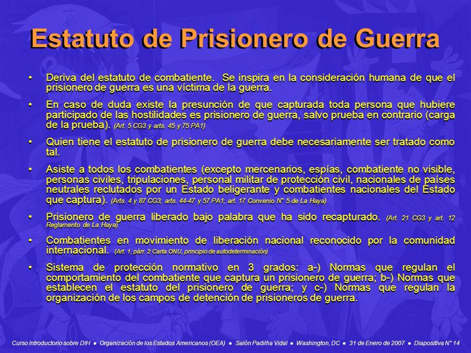 Estatuto de Prisionero de Guerra