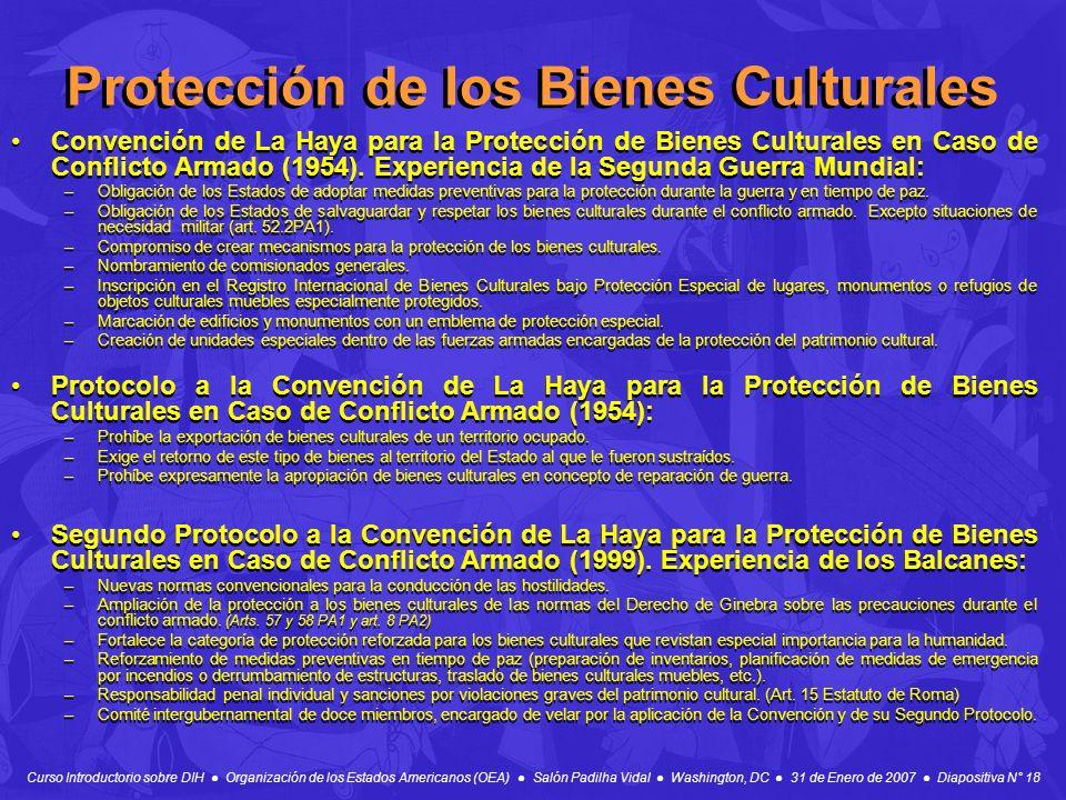 Protección de los Bienes Culturales