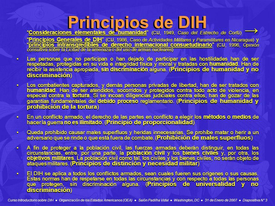 Principios de DIH
