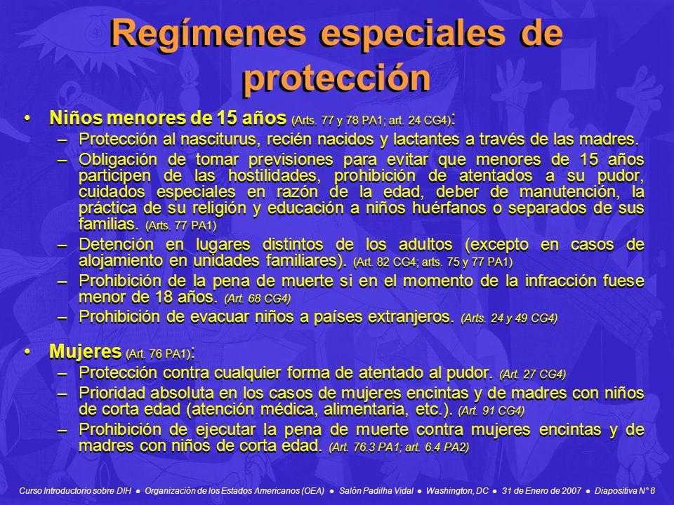 Regímenes especiales de protección