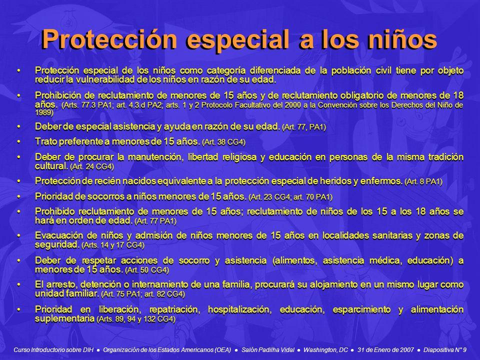 Protección especial a los niños