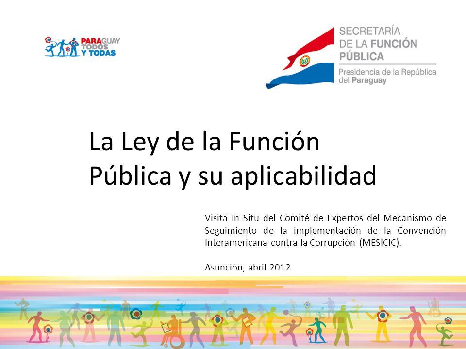 La Ley de la Función Pública y su aplicabilidad