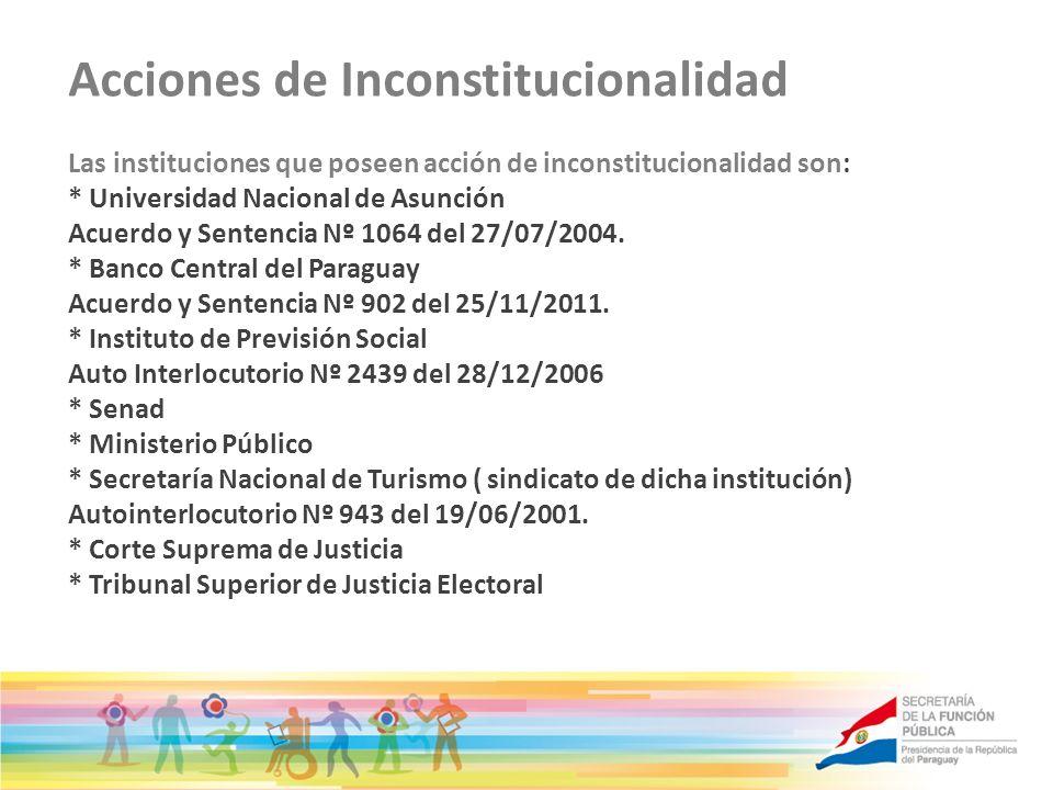 Acciones de Inconstitucionalidad