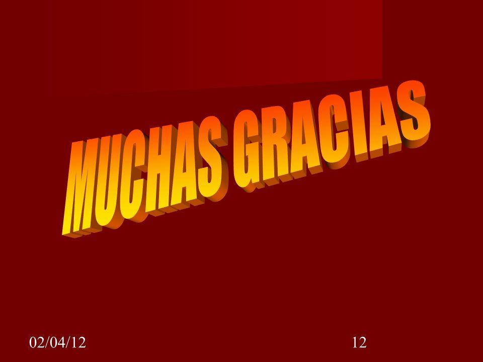 MUCHAS GRACIAS 02/04/12
