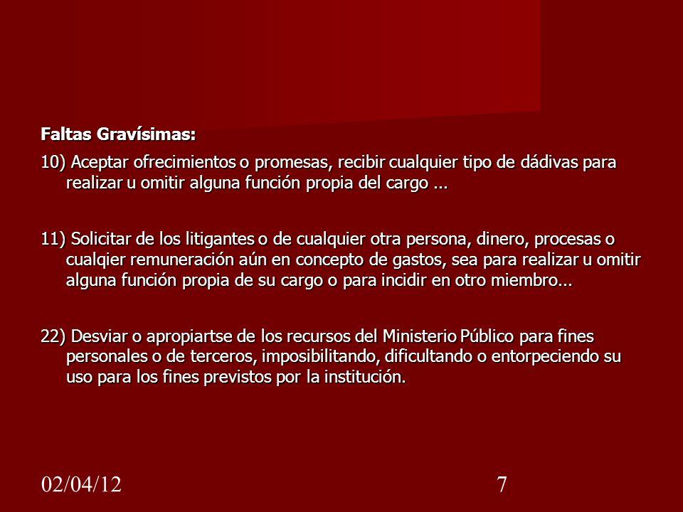 Faltas Gravísimas: