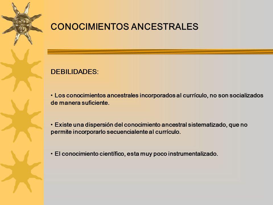 CONOCIMIENTOS ANCESTRALES