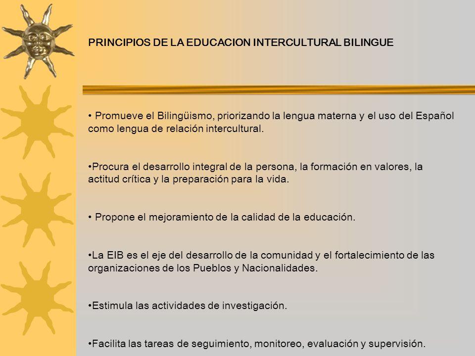 PRINCIPIOS DE LA EDUCACION INTERCULTURAL BILINGUE