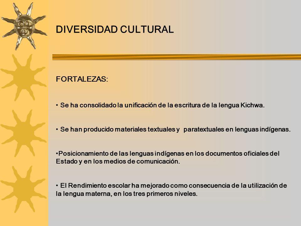 DIVERSIDAD CULTURAL FORTALEZAS: