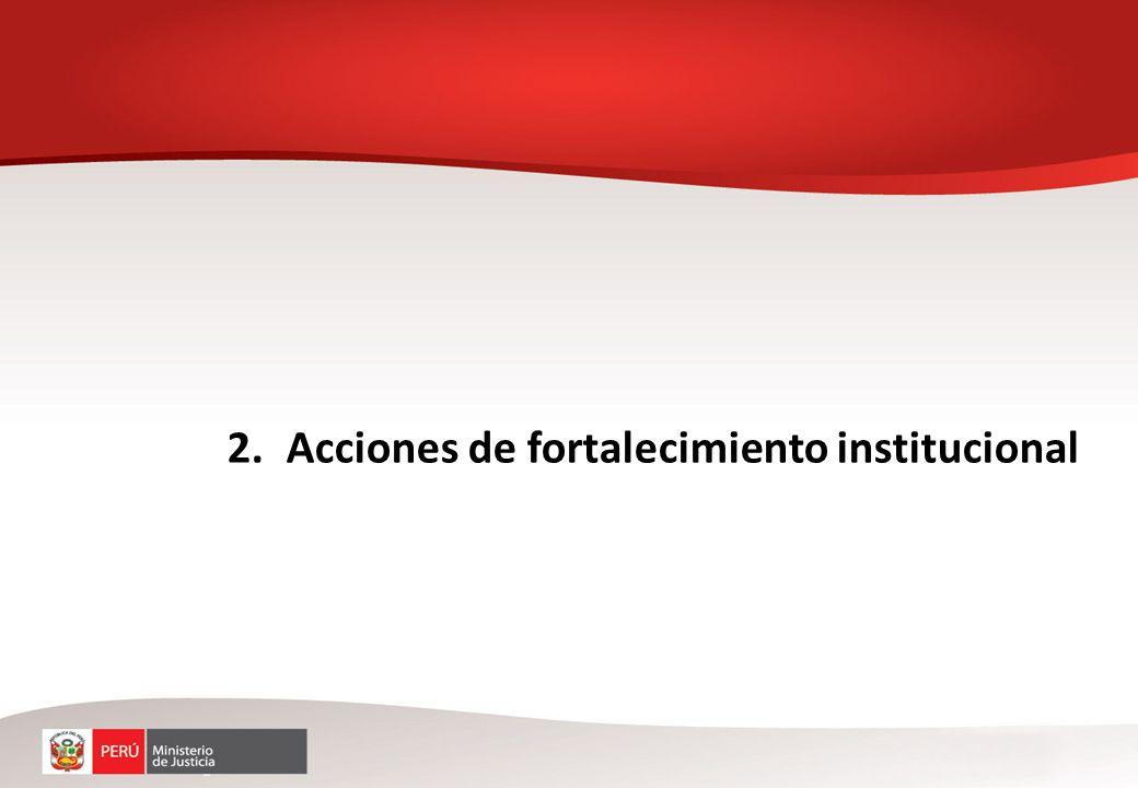 Acciones de fortalecimiento institucional