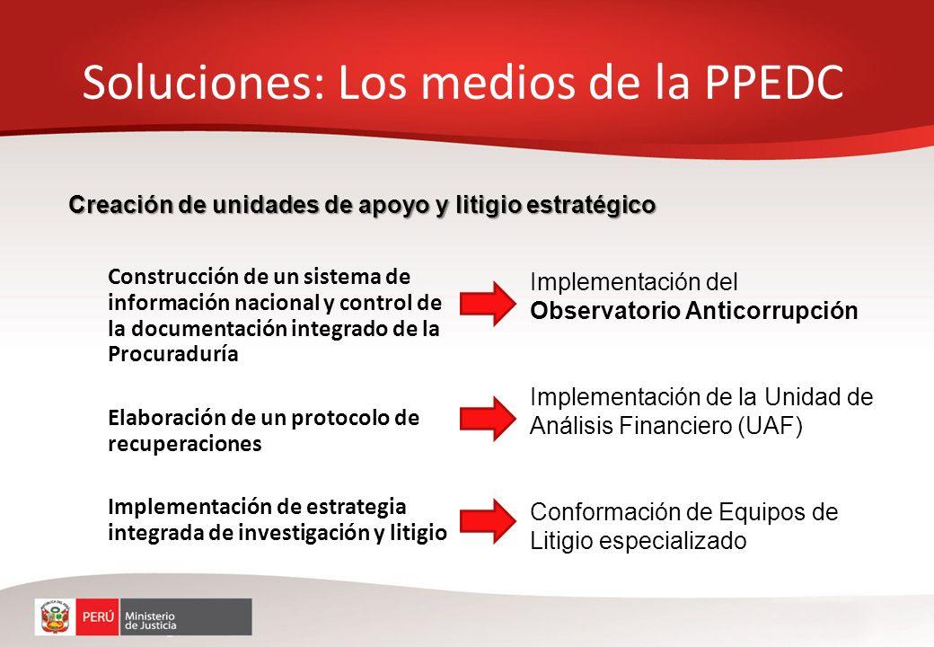 Soluciones: Los medios de la PPEDC