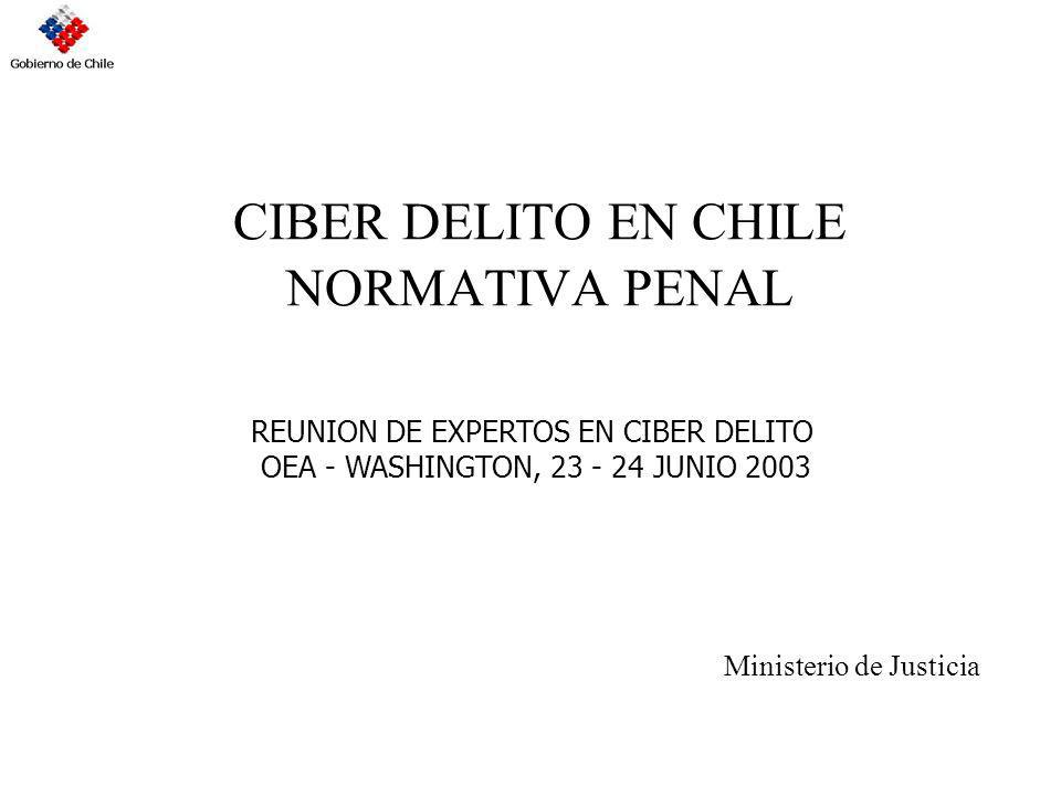 CIBER DELITO EN CHILE NORMATIVA PENAL