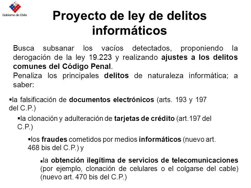 Proyecto de ley de delitos informáticos