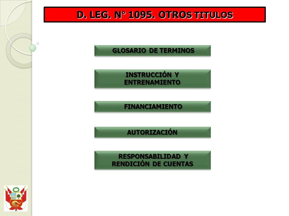 INSTRUCCIÓN Y ENTRENAMIENTO RESPONSABILIDAD Y RENDICIÓN DE CUENTAS