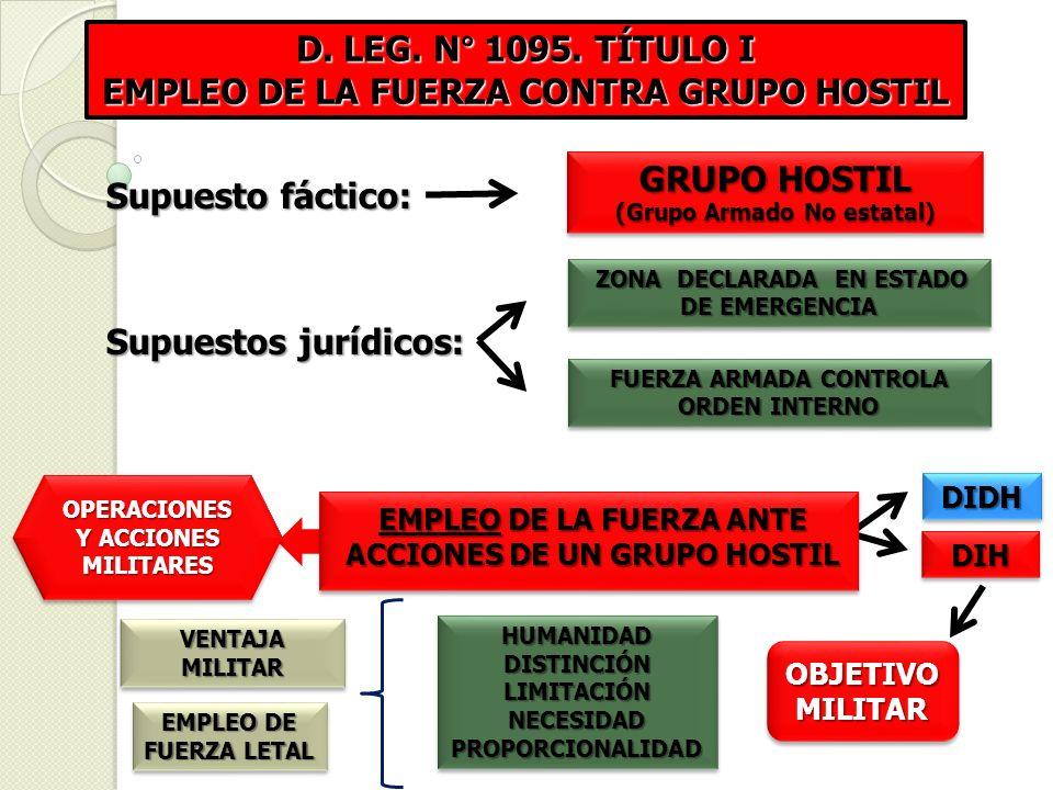 EMPLEO DE LA FUERZA CONTRA GRUPO HOSTIL