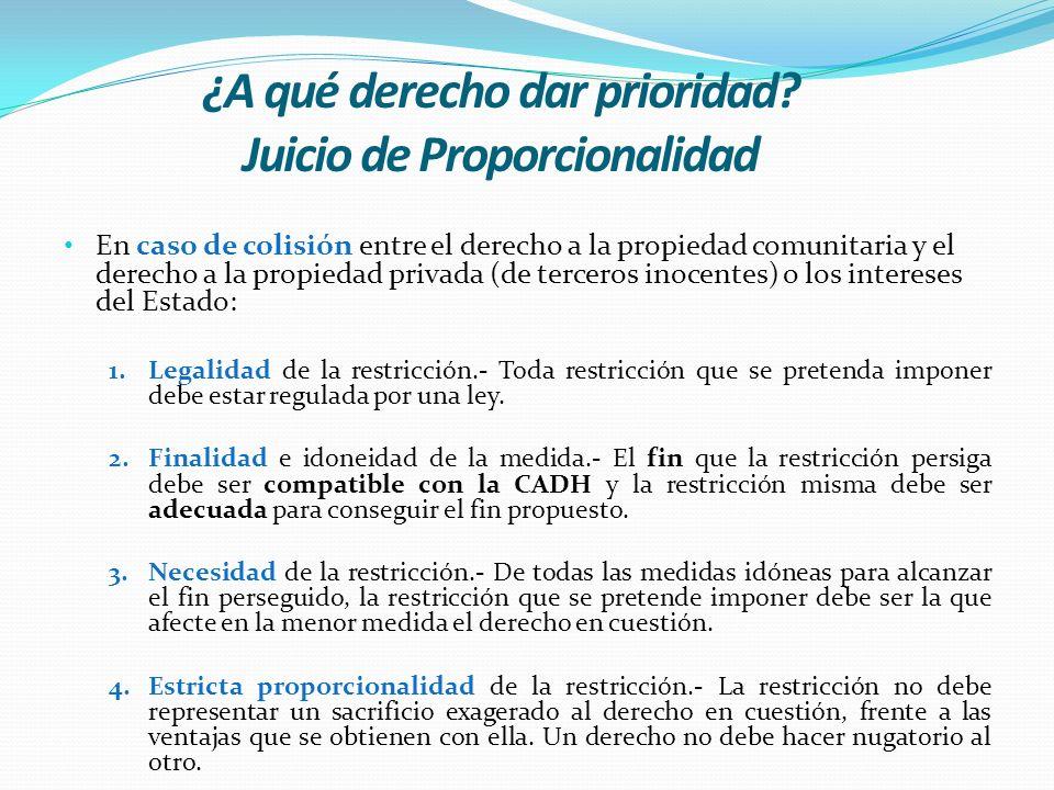 ¿A qué derecho dar prioridad Juicio de Proporcionalidad