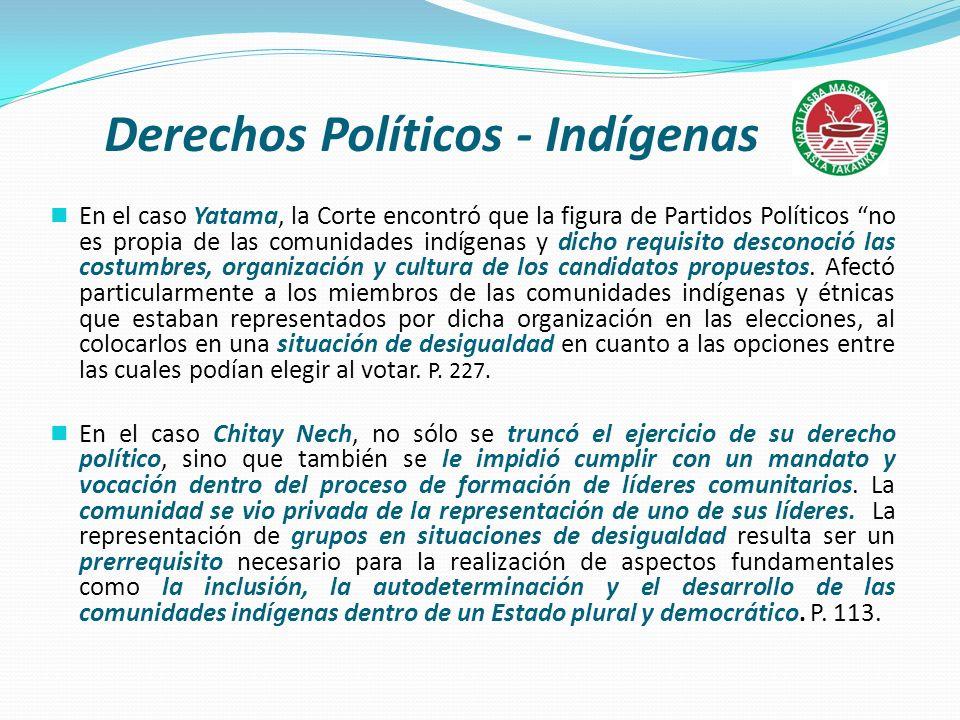 Derechos Políticos - Indígenas