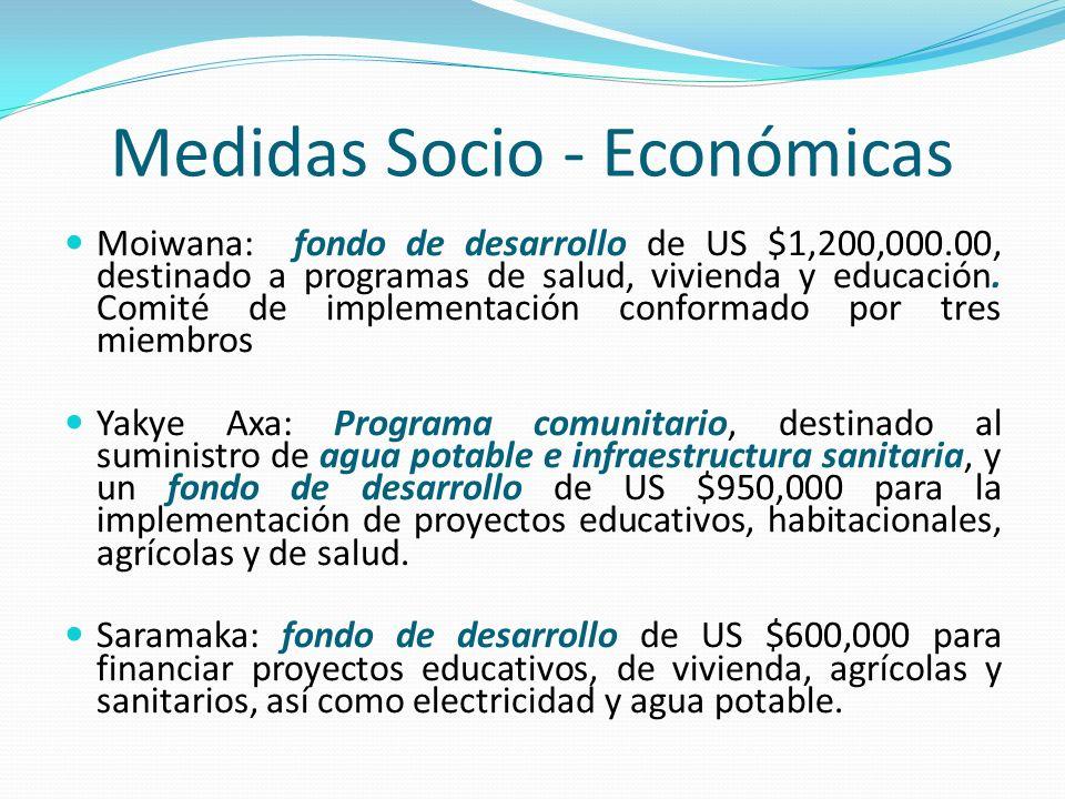 Medidas Socio - Económicas