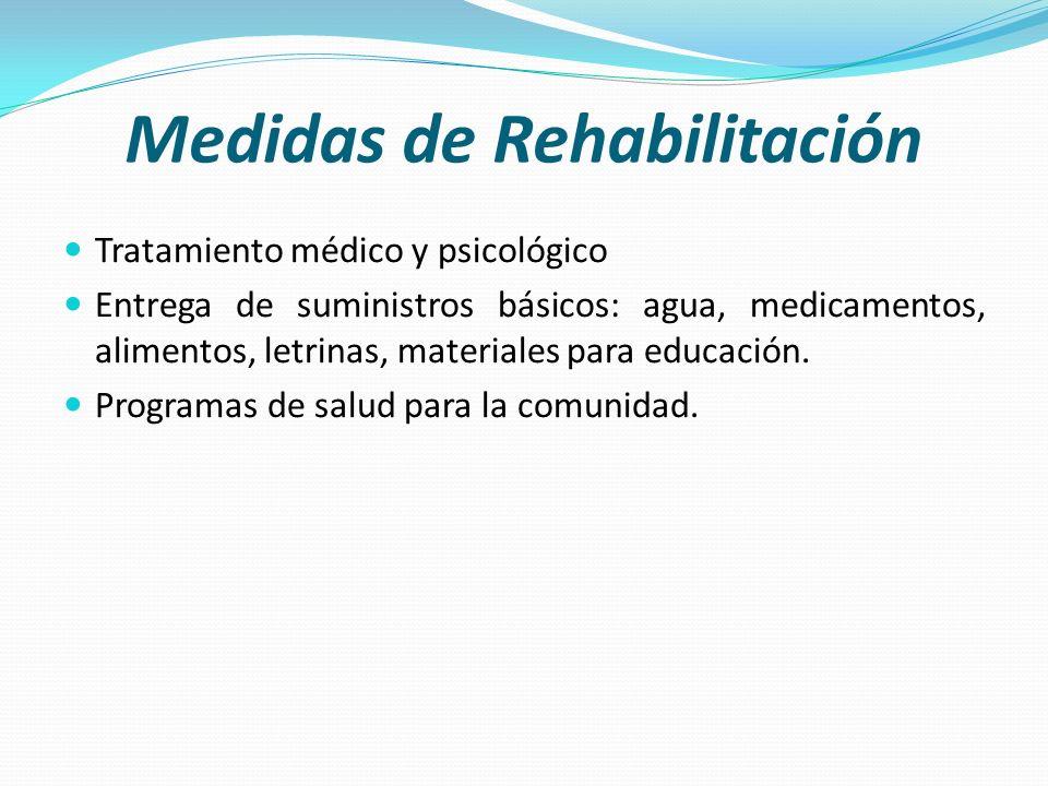 Medidas de Rehabilitación