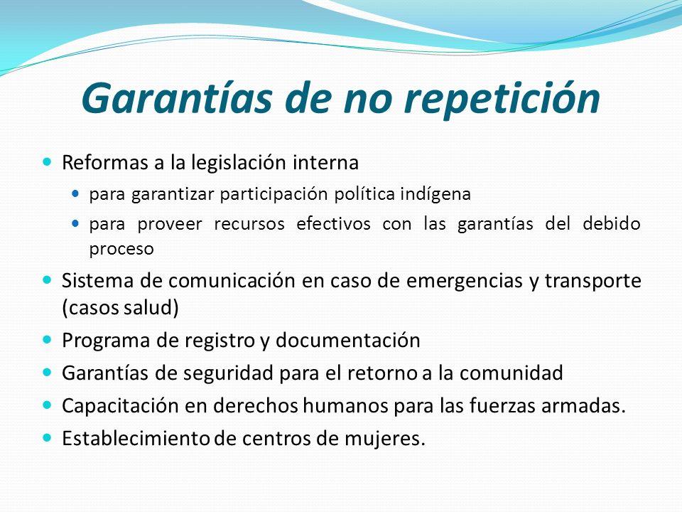 Garantías de no repetición