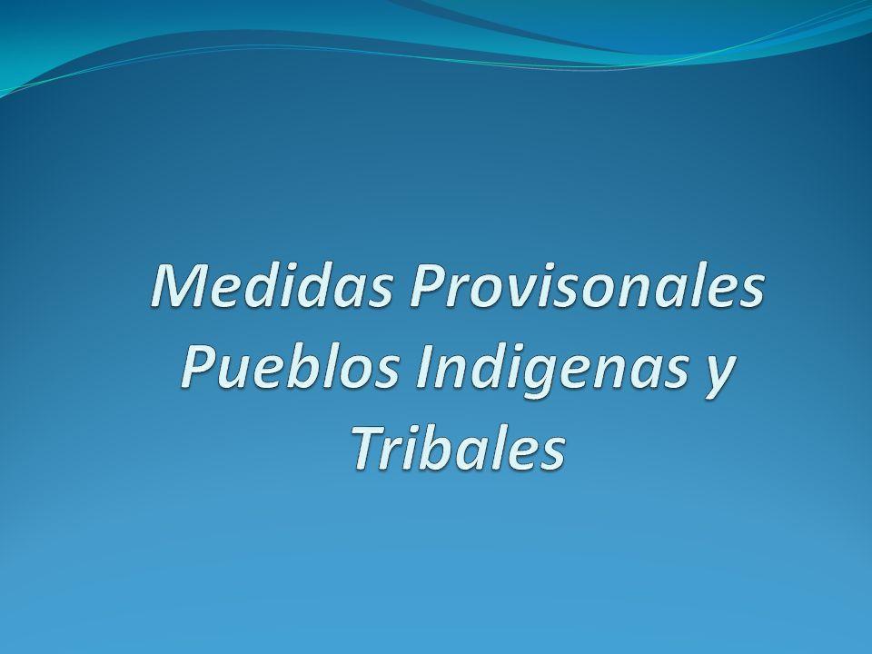 Medidas Provisonales Pueblos Indigenas y Tribales