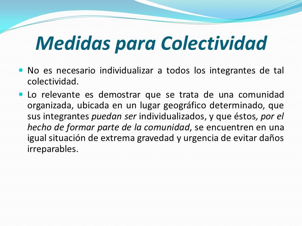Medidas para Colectividad