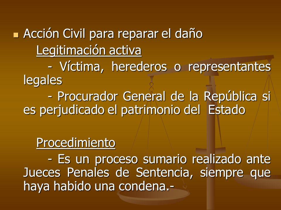 Acción Civil para reparar el daño