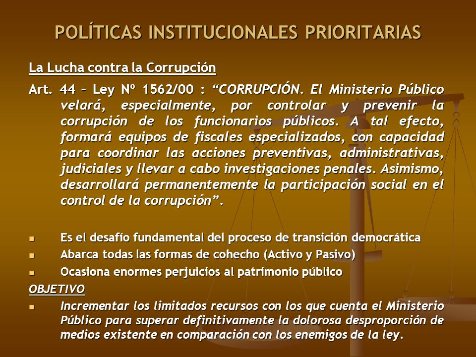 POLÍTICAS INSTITUCIONALES PRIORITARIAS