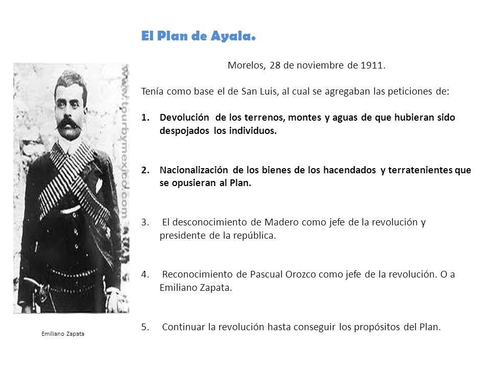 Morelos, 28 de noviembre de 1911.