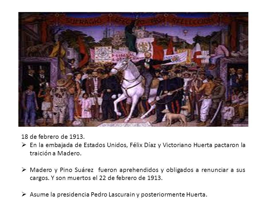 18 de febrero de 1913. En la embajada de Estados Unidos, Félix Díaz y Victoriano Huerta pactaron la traición a Madero.