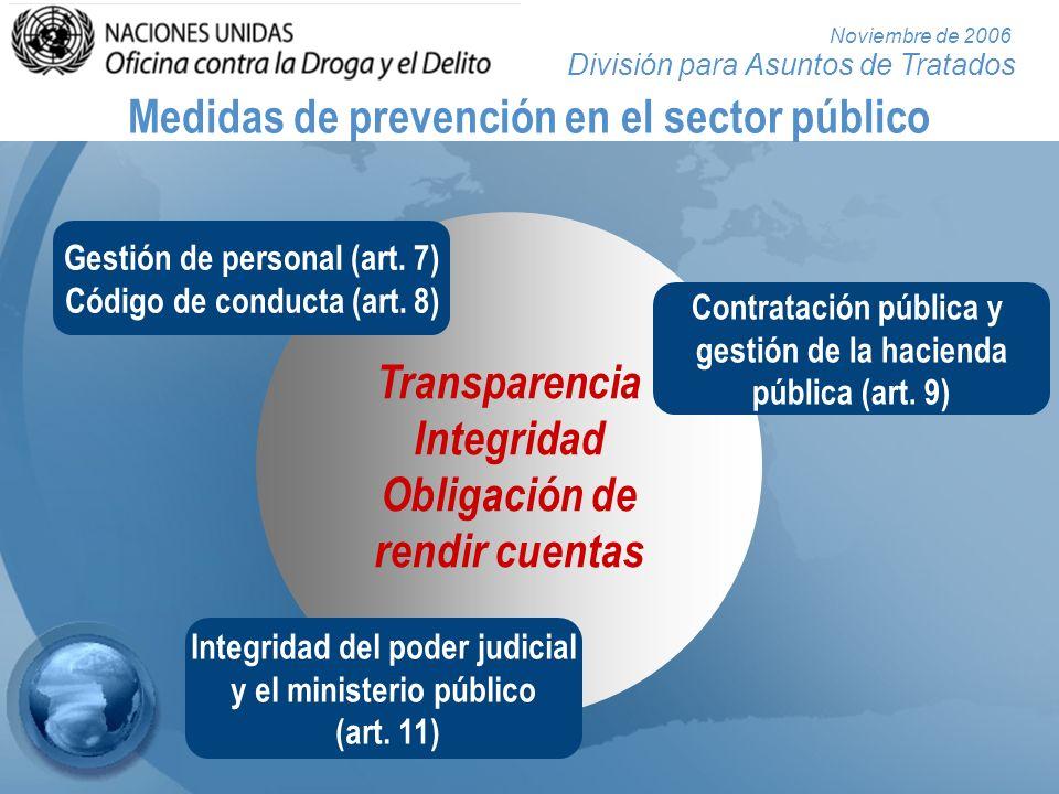 Medidas de prevención en el sector público