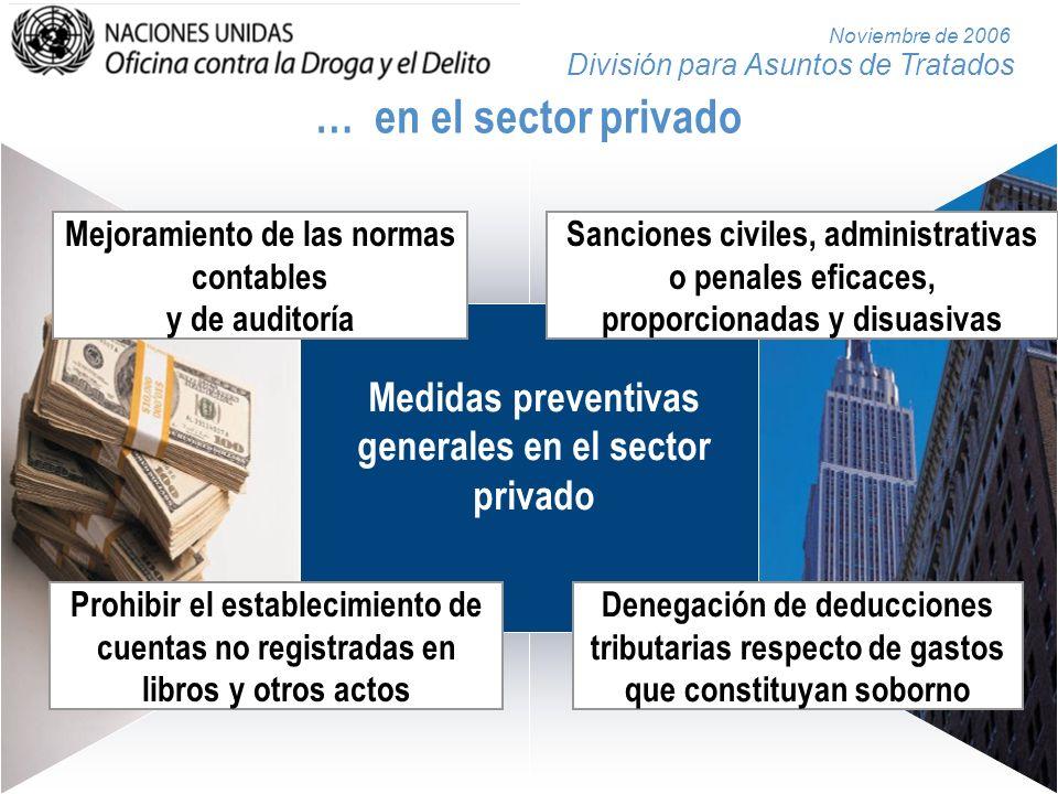… en el sector privado Mejoramiento de las normas contables y de auditoría.