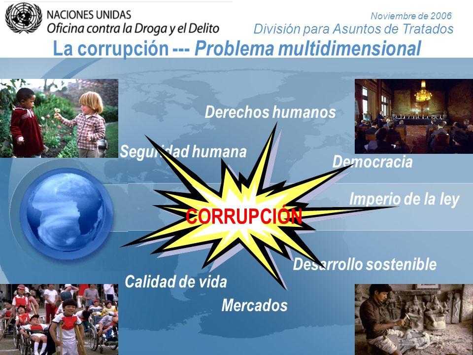 La corrupción --- Problema multidimensional