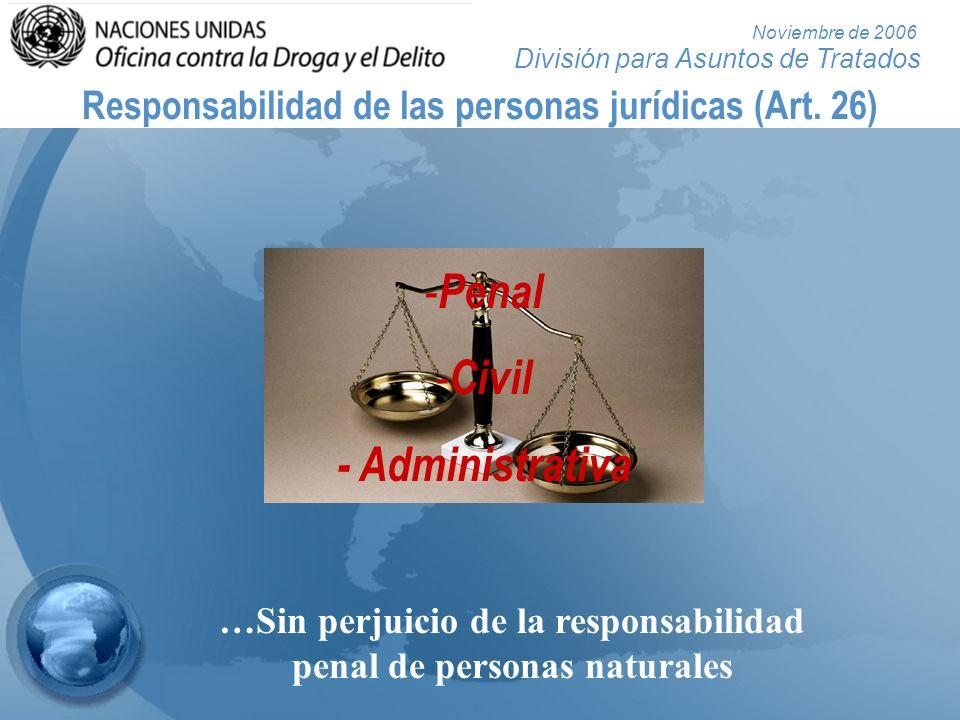 Responsabilidad de las personas jurídicas (Art. 26)