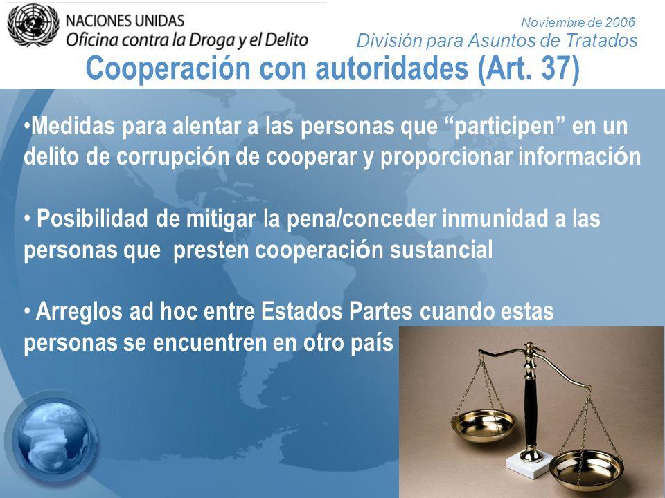 Cooperación con autoridades (Art. 37)