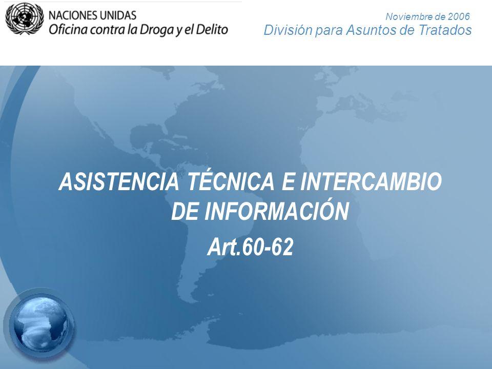 ASISTENCIA TÉCNICA E INTERCAMBIO DE INFORMACIÓN